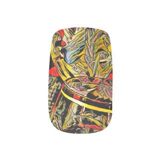 Cooler Chic-künstlerische Wein-Glas-Kante Minx Nagelkunst