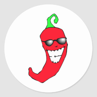 Cooler Chili-Pfeffer Runder Aufkleber