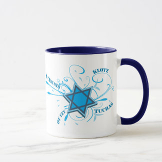 Cooler David-Stern u. Yiddish-Wort-Blau-Tasse Tasse