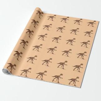 Cooler Deinonychus Dinosaurier Geschenkpapier