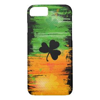 Cooler dunkler glücklicher Klee und Tinte iPhone 8/7 Hülle