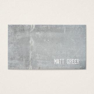 Cooler einfacher rustikaler grauer Beton Visitenkarte
