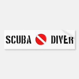 Cooler Entwurf des Unterwasseratemgerät-Tauchers! Autoaufkleber