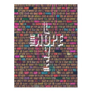 Cooler fantastischer Glauben-Liebe-Hoffnung Postkarte