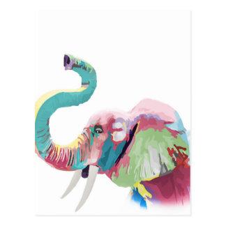 Cooler fantastischer trendy bunter vibrierender postkarte