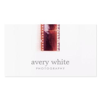 Cooler Fotograf-Vintager Foto-Film-einfaches Weiß Visitenkarten Vorlagen
