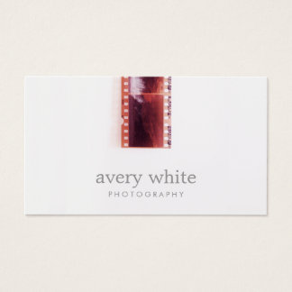 Cooler Fotograf-Vintager Foto-Film-einfaches Weiß Visitenkarte