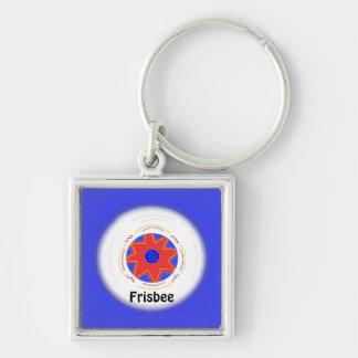 Cooler Frisbee-Entwurf Schlüsselanhänger