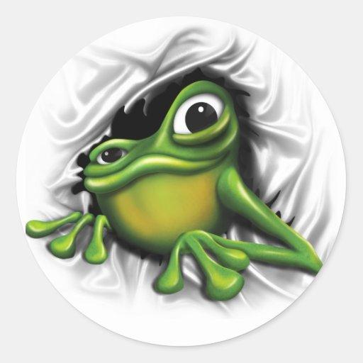 Cooler Frosch 3d Sticker