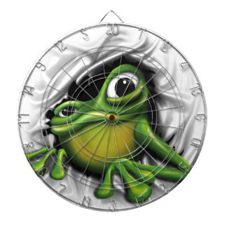 Cooler Frosch 3d Dartscheibe