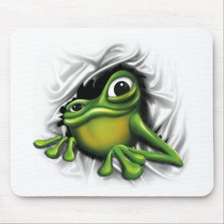 Cooler Frosch 3d Mauspad