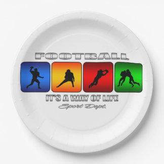 Cooler Fußball ist es eine Lebensart Pappteller