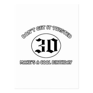 cooler Geburtstagsentwurf Postkarte