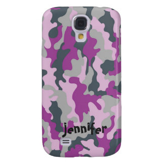 Cooler Girly rosa Camouflage-Tarnungs-Name Galaxy S4 Hülle