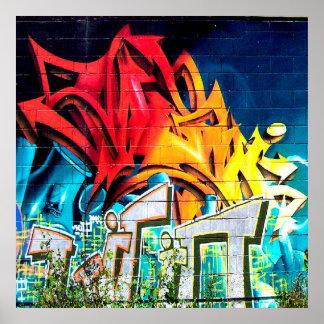 Cooler Graffiti-Zuhause-Bürodekor acryllic Poster