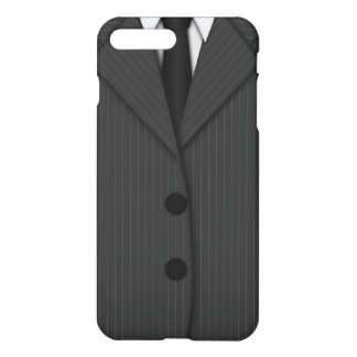 Cooler grauer Pinstripe-Anzug und iPhone 8 Plus/7 Plus Hülle