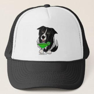 Cooler Grenzcollie-Hund, der Margarita-Cartoon Truckerkappe