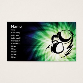 Cooler grüner Boxer Visitenkarte