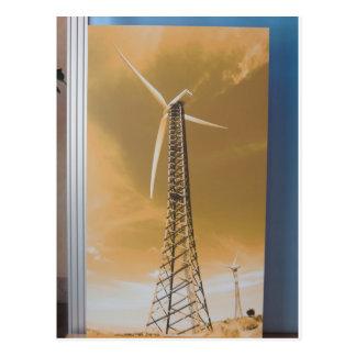 COOLER grüner Energie-Wind-Solaratomumwelt Franc Postkarten
