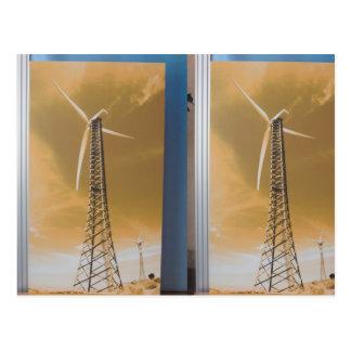 COOLER grüner Energie-Wind-Solaratomumwelt Franc Postkarte