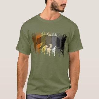 Cooler Grunge-Bärn-Schatten-homosexueller T-Shirt