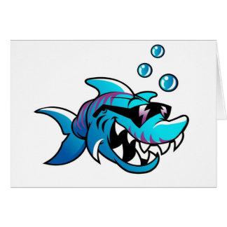 Cooler Haifisch mit Sonnenbrillen Karte