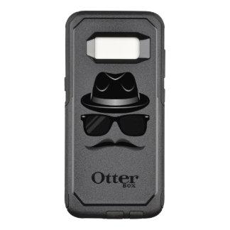 Cooler Hipster mit dem Schnurrbart, Hut und OtterBox Commuter Samsung Galaxy S8 Hülle