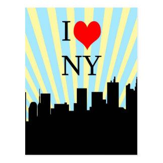 Cooler i-Liebe-Herz-New- Yorkentwurf Postkarte