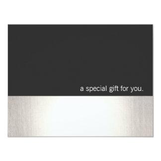 Cooler Imitat-silberner Streifen-modernes 10,8 X 14 Cm Einladungskarte