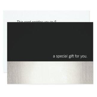 Cooler Imitat-silberner Streifen-modernes 8,9 X 12,7 Cm Einladungskarte