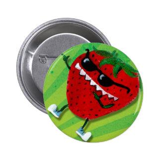 Cooler Jack: Niedliche Erdbeere Button