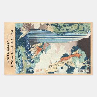 Cooler japanischer Vintager ukiyo-e Hokusai Rechteckiger Aufkleber