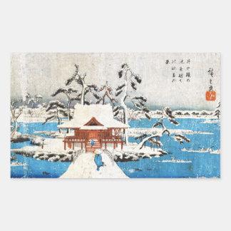 Cooler japanischer Vintager ukiyo-e Rechteckiger Aufkleber