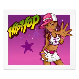 Cooler jugendlich angesagter Hopfenrapper-rosa und Kunstphotos