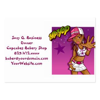 Cooler jugendlich angesagter Hopfenrapper-rosa und Mini-Visitenkarten