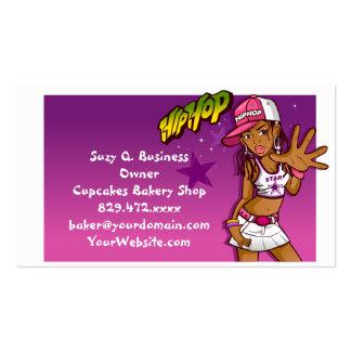 Cooler jugendlich angesagter Hopfenrapper-rosa und Visitenkarten