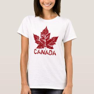 Cooler Kanada-T - Shirt-Retro Ahorn-Blatt-Andenken T-Shirt