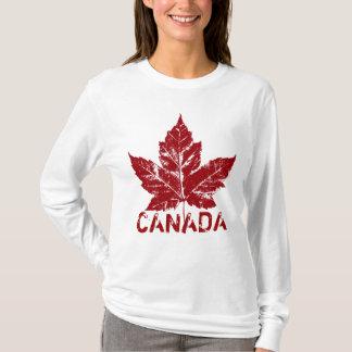 Cooler Kanadahoodie-Retro Ahorn-Blatt-Andenken T-Shirt