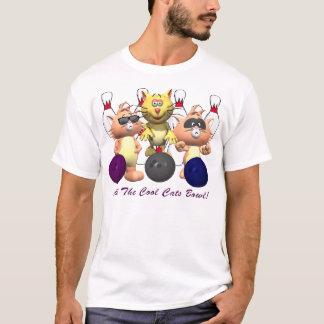 Cooler Katzen-Bowling T-Shirt