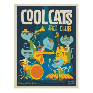 Cooler Katzen-Jazz Postkarte