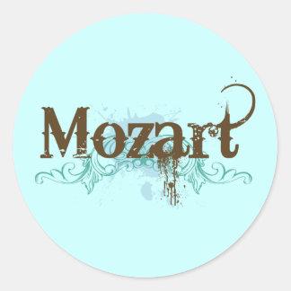Cooler klassischer Mozart-Aufkleber Runder Aufkleber
