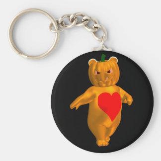 Cooler kleiner Halloween-Bär Schlüsselanhänger