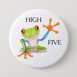 Cooler Knopf des Frosch-hohe fünf Runder Button 7,6 Cm