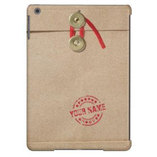 Cooler Kraftpapier-Umschlag mit Name-Rot-Siegel