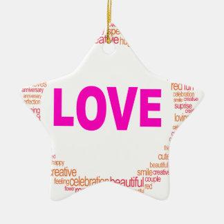 cooler Kreisentwurf der Liebe Keramik Ornament