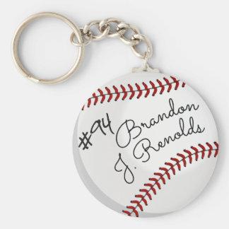 Cooler kundenspezifischer Unterzeichnungs-Baseball Schlüsselanhänger