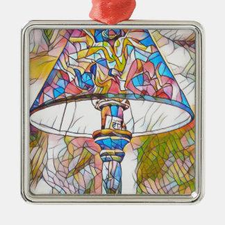 Cooler künstlerischer beflecktes silbernes ornament