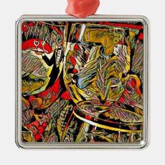 Cooler künstlerischer moderner Wein-Glas-Dekor Silbernes Ornament
