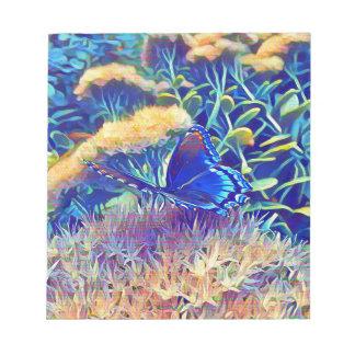 Cooler künstlerischer Monarch-Schmetterling Notizblock