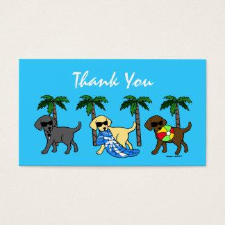 Cooler Labradors danken Ihnen zu kardieren Visitenkarte